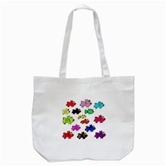 Fishes Marine Life Swimming Water Tote Bag (White)