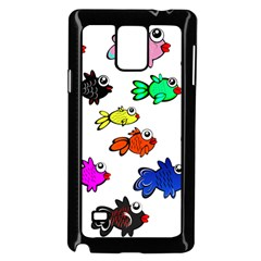 Fishes Marine Life Swimming Water Samsung Galaxy Note 4 Case (Black)