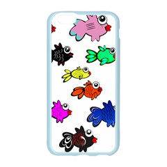 Fishes Marine Life Swimming Water Apple Seamless iPhone 6/6S Case (Color)