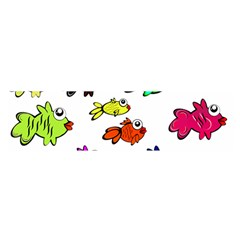 Fishes Marine Life Swimming Water Satin Scarf (Oblong)