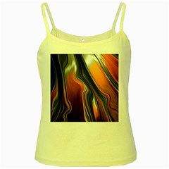 Fractal Structure Mathematics Yellow Spaghetti Tank