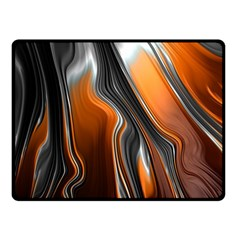 Fractal Structure Mathematics Double Sided Fleece Blanket (Small)