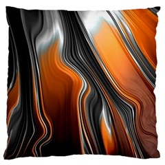 Fractal Structure Mathematics Large Flano Cushion Case (Two Sides)
