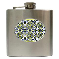 Tiles Panel Decorative Decoration Hip Flask (6 Oz)
