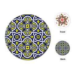 Tiles Panel Decorative Decoration Playing Cards (round)