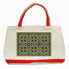 Tiles Panel Decorative Decoration Classic Tote Bag (Red)