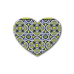 Tiles Panel Decorative Decoration Rubber Coaster (heart)
