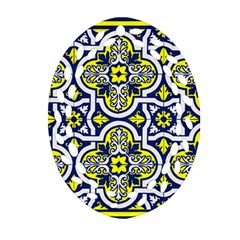 Tiles Panel Decorative Decoration Oval Filigree Ornament (Two Sides)