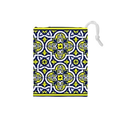 Tiles Panel Decorative Decoration Drawstring Pouches (Small)