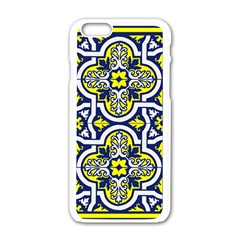 Tiles Panel Decorative Decoration Apple iPhone 6/6S White Enamel Case