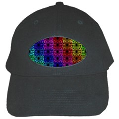 Rainbow Grid Form Abstract Black Cap