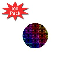 Rainbow Grid Form Abstract 1  Mini Buttons (100 pack)