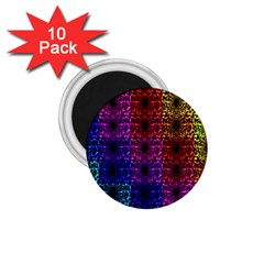 Rainbow Grid Form Abstract 1 75  Magnets (10 Pack)
