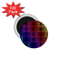 Rainbow Grid Form Abstract 1 75  Magnets (100 Pack)
