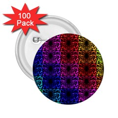 Rainbow Grid Form Abstract 2.25  Buttons (100 pack)