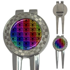 Rainbow Grid Form Abstract 3-in-1 Golf Divots