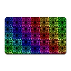 Rainbow Grid Form Abstract Magnet (Rectangular)