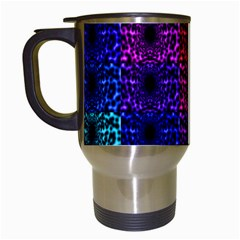 Rainbow Grid Form Abstract Travel Mugs (white)