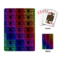 Rainbow Grid Form Abstract Playing Card