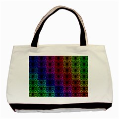 Rainbow Grid Form Abstract Basic Tote Bag