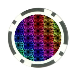 Rainbow Grid Form Abstract Poker Chip Card Guard