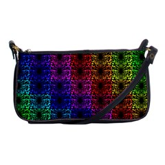 Rainbow Grid Form Abstract Shoulder Clutch Bags