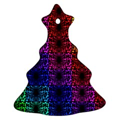 Rainbow Grid Form Abstract Ornament (Christmas Tree)