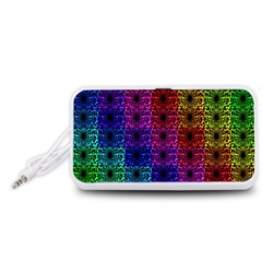 Rainbow Grid Form Abstract Portable Speaker (White)