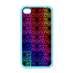 Rainbow Grid Form Abstract Apple iPhone 4 Case (Color)