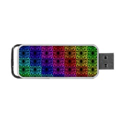 Rainbow Grid Form Abstract Portable USB Flash (Two Sides)