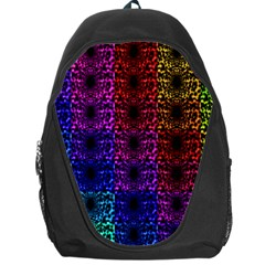 Rainbow Grid Form Abstract Backpack Bag