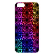 Rainbow Grid Form Abstract Apple iPhone 5 Seamless Case (White)