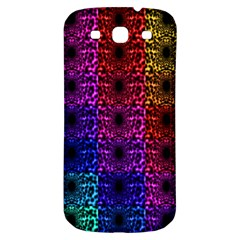 Rainbow Grid Form Abstract Samsung Galaxy S3 S III Classic Hardshell Back Case