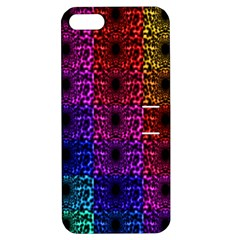 Rainbow Grid Form Abstract Apple iPhone 5 Hardshell Case with Stand