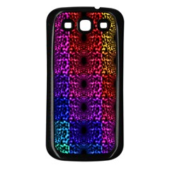 Rainbow Grid Form Abstract Samsung Galaxy S3 Back Case (Black)