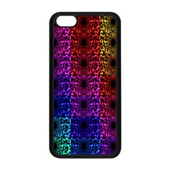 Rainbow Grid Form Abstract Apple iPhone 5C Seamless Case (Black)