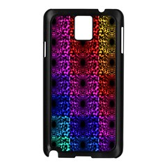 Rainbow Grid Form Abstract Samsung Galaxy Note 3 N9005 Case (black)