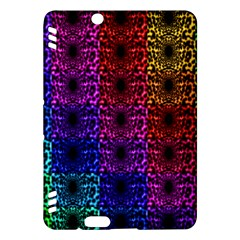 Rainbow Grid Form Abstract Kindle Fire HDX Hardshell Case