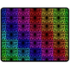 Rainbow Grid Form Abstract Double Sided Fleece Blanket (Medium)