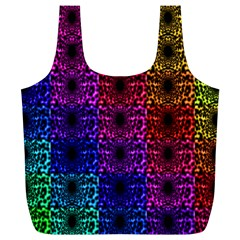 Rainbow Grid Form Abstract Full Print Recycle Bags (L)