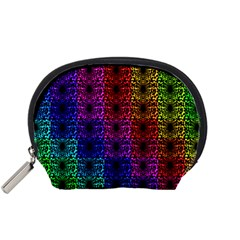 Rainbow Grid Form Abstract Accessory Pouches (Small)