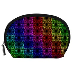 Rainbow Grid Form Abstract Accessory Pouches (Large)