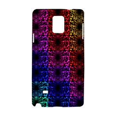 Rainbow Grid Form Abstract Samsung Galaxy Note 4 Hardshell Case