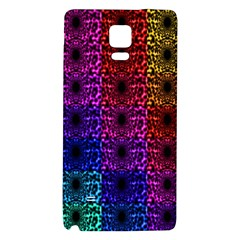 Rainbow Grid Form Abstract Galaxy Note 4 Back Case