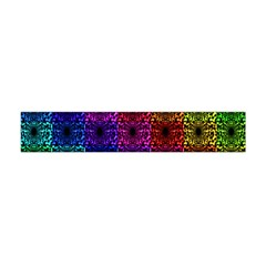 Rainbow Grid Form Abstract Flano Scarf (mini)