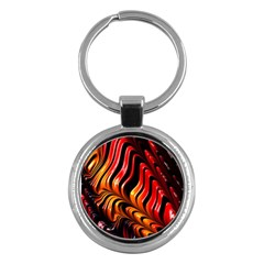 Fractal Mathematics Abstract Key Chains (Round)