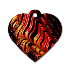 Fractal Mathematics Abstract Dog Tag Heart (One Side)