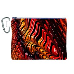 Fractal Mathematics Abstract Canvas Cosmetic Bag (XL)