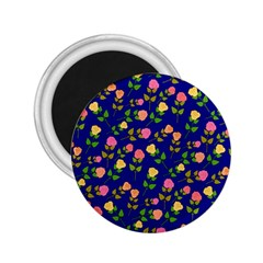 Flowers Roses Floral Flowery Blue Background 2.25  Magnets