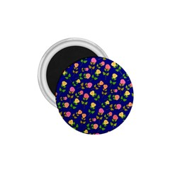 Flowers Roses Floral Flowery Blue Background 1.75  Magnets